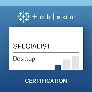 Tableau Desktop Specialist Certification Exam