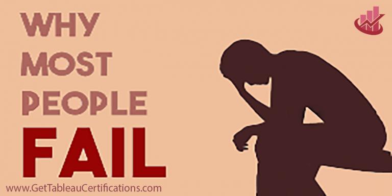 Fail in Tableau Certification Exam