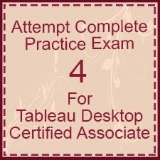 Tableau Desktop Associate Exam 4